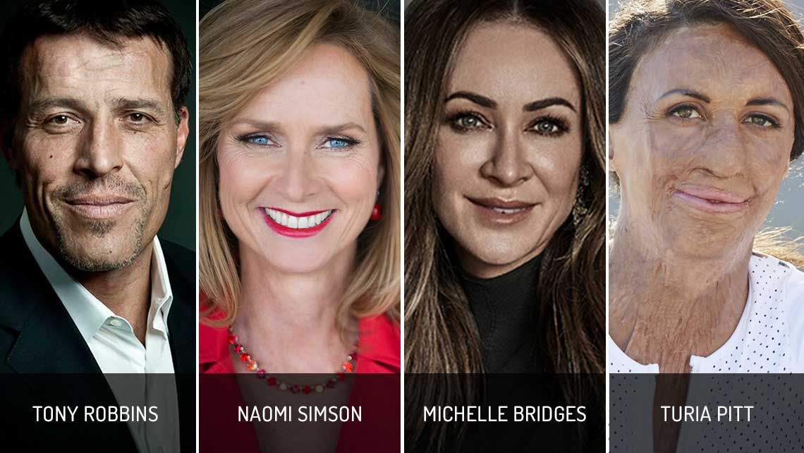 Tony Robbins, Naomi Simson, Michelle Bridges